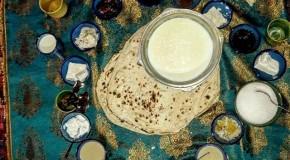 نگاره:  صبحانه در خانه روحانی برزک