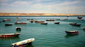 نگاره:  پسابندر، جای خوب قایقسواری و لنجسواری در بلوچستان