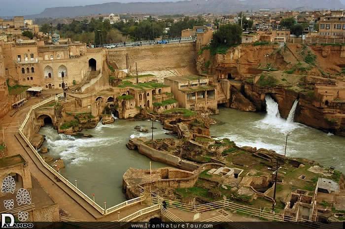 شوشتر شهر سازههای باستانی آب